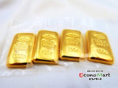 10/27(水)【K24 買取 盛岡 エコノマート】純金|K24インゴット|100g×4|総重量400g|買取、小分けもお任せください。